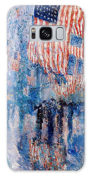 The Avenue In The Rain Galaxy Case by Frederick Childe Hassam