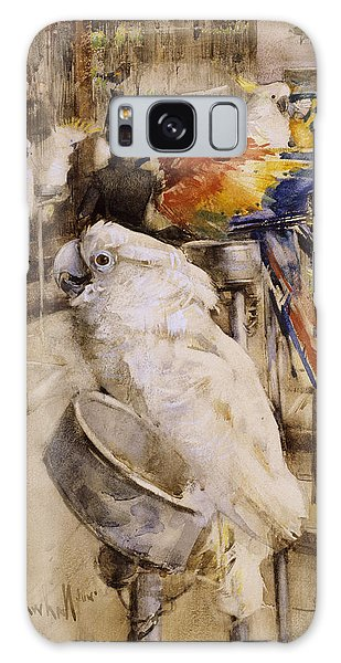 Cockatoo Galaxy S8 Case - The Aviary, Clifton, 1888 by Joseph Crawhall