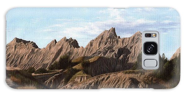 The Badlands In South Dakota Oil Painting Galaxy Case
