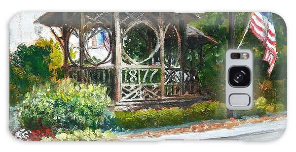 The Bandstand In Triangle Park Chagrin Falls Galaxy Case