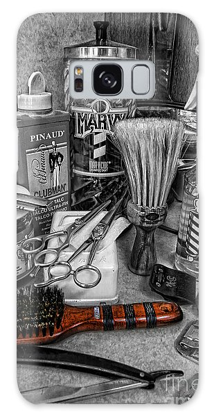 The Barber's Brush Galaxy Case by Lee Dos Santos