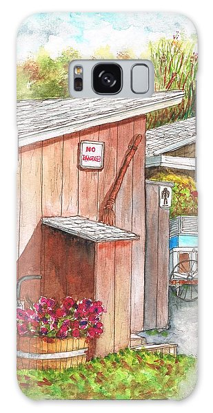 The Barn Outhouse In Avila Beach - California Galaxy Case