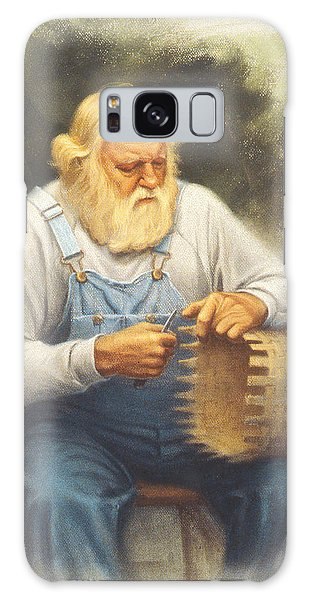 Basket Galaxy Case - The Basketmaker In Pastel by Paul Krapf