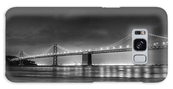 West Bay Galaxy Case - The Bay Bridge Monochrome by Scott Norris