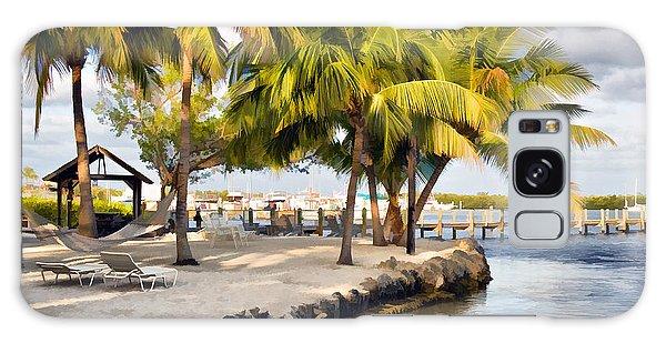 The Beach At Coconut Palm Inn Galaxy Case