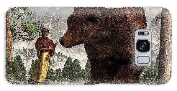 The Bear Woman Galaxy Case by Daniel Eskridge