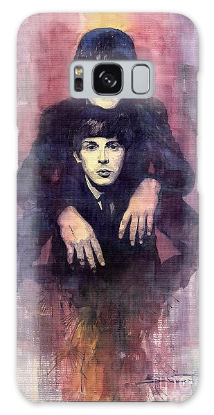 Portret Galaxy Case - The Beatles John Lennon And Paul Mccartney by Yuriy Shevchuk