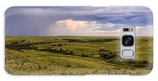 The Beginnings - Flint Hills Storm Pano Galaxy Case by Scott Bean
