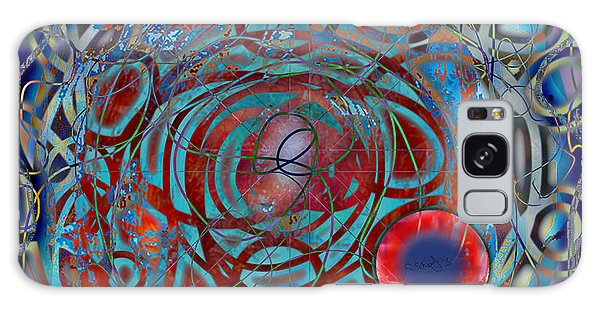 The Big Bang Grape Theory Galaxy Case by Gabrielle Schertz