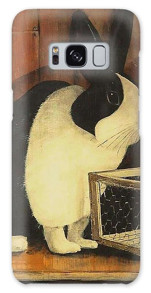 The Black And White Dutch Rabbit  2 Galaxy Case