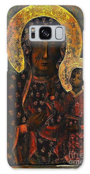 The Black Madonna Galaxy Case