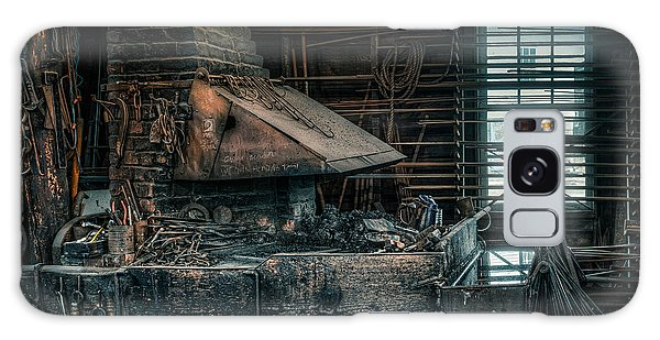 Galaxy Case featuring the photograph The Blacksmith's Forge - Industrial by Gary Heller