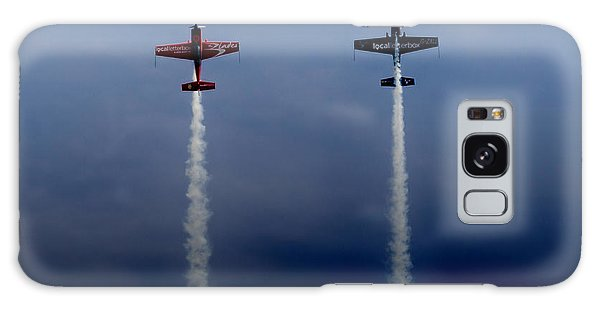 Galaxy Case featuring the photograph The Blades Going Up Sunderland Air Show 2014 by Scott Lyons