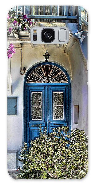 The Blue Door-santorini Galaxy Case by Tom Prendergast