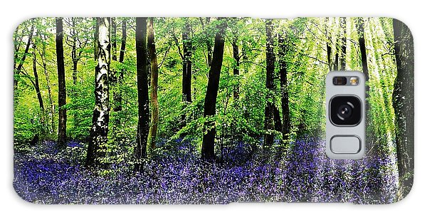 The Bluebell Woods Galaxy Case by Morag Bates
