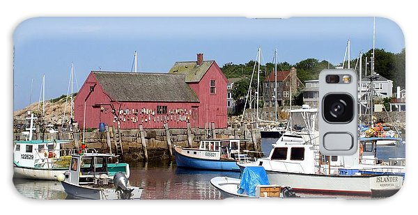 The Boat Yard At Rockport Galaxy Case by Mary Lou Chmura