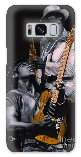 Bruce Springsteen And Clarence Clemons Galaxy Case by Thomas J Herring
