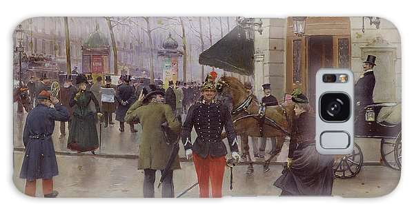 Cart Galaxy Case - The Boulevard Des Capucines And The Vaudeville Theatre by Jean Beraud