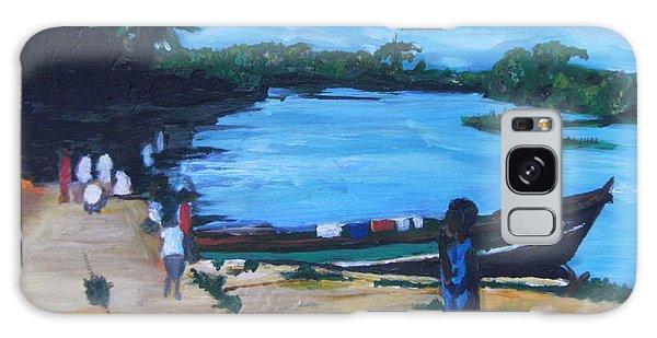 The Boy Porter  Sierra Leone Galaxy Case by Mudiama Kammoh