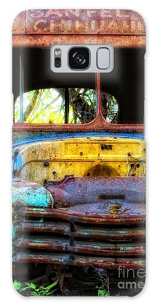 The Bus Stops Here Galaxy Case by Erika Weber
