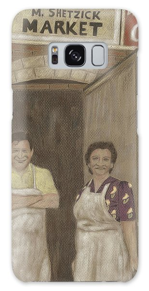 The Butcher And His Wife  Galaxy Case