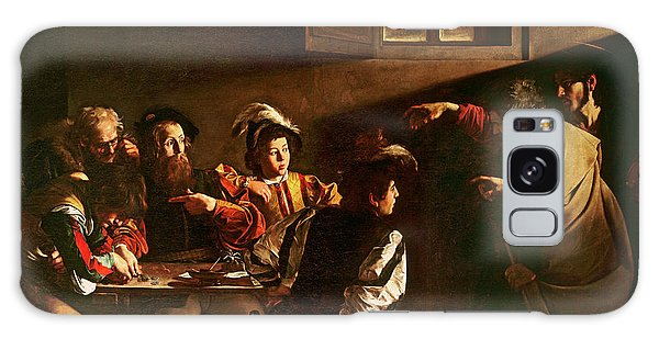 Savior Galaxy Case - The Calling Of St Matthew by Michelangelo Merisi o Amerighi da Caravaggio
