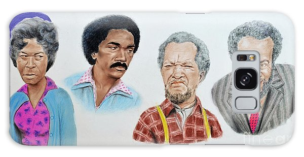 The Cast Of Sanford And Son  Galaxy Case by Jim Fitzpatrick