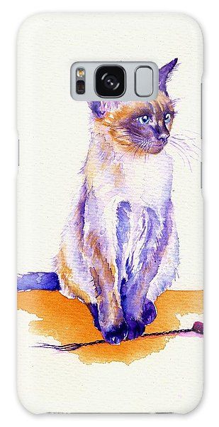 The Catmint Mouse Hunter Galaxy Case by Debra Hall