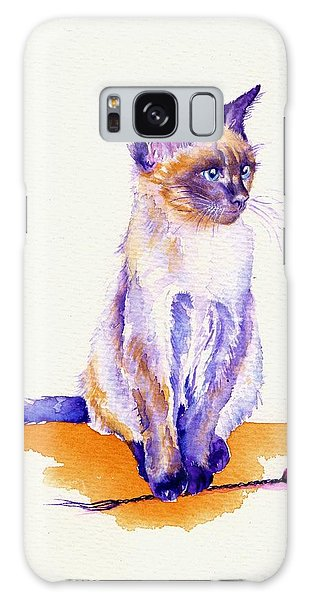 Cat Galaxy S8 Case - The Catmint Mouse Hunter by Debra Hall