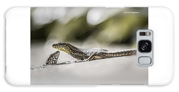 Galaxy Case featuring the photograph The Charming Lizards by Stwayne Keubrick
