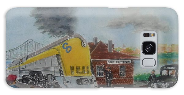 The Chesapeake And Ohio George Washington At South Portsmouth Station Galaxy Case by Frank Hunter