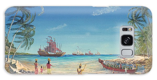 The Chinese Treasure Fleet Arrives Galaxy Case by Anthony Lyon