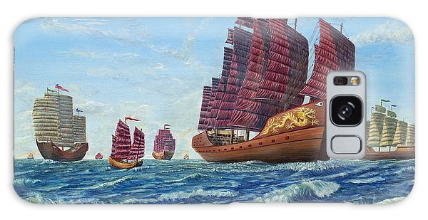 The Chinese Treasure Fleet Sets Sail Galaxy Case by Anthony Lyon