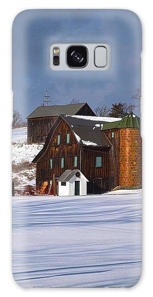 The Christmas Barn Galaxy Case by Joshua House