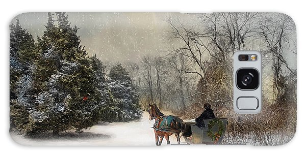 The Christmas Sleigh Galaxy Case