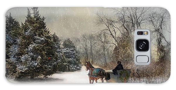 The Christmas Sleigh Galaxy Case by Robin-Lee Vieira