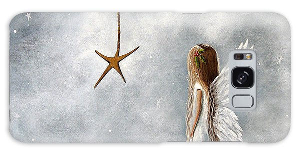The Christmas Star Original Artwork Galaxy Case by Shawna Erback