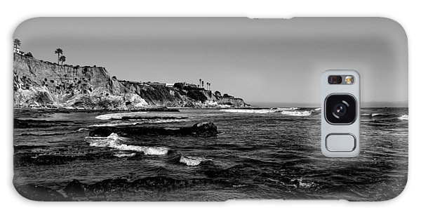 The Cliffs Of Pismo Beach Bw Galaxy Case