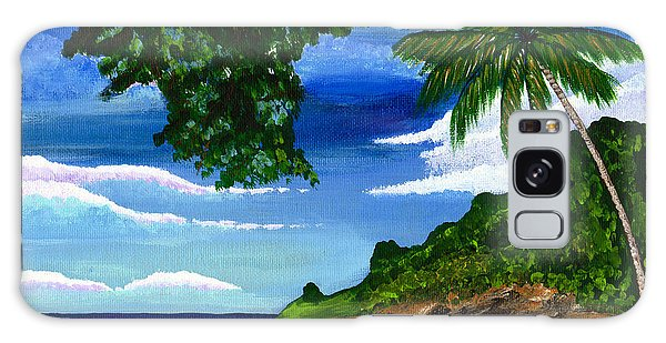 The Coconut Tree Galaxy Case by Laura Forde