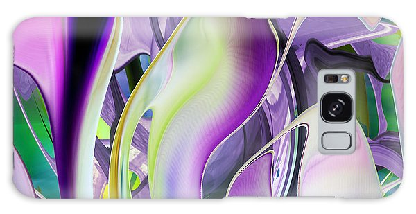 The Color Of Iris - Digital Abstract Art Galaxy Case