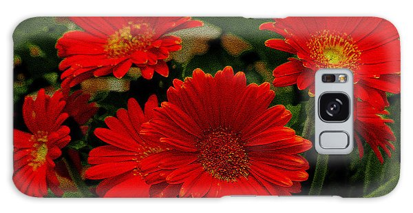 Gerbera Daisies Red Galaxy Case