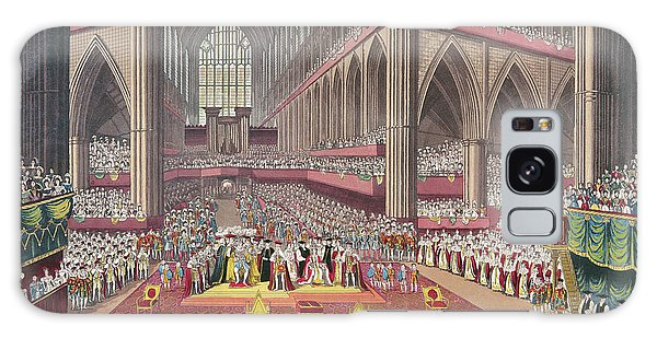 The Coronation Of King William Iv And Queen Adelaide, 1831 Colour Litho Galaxy Case