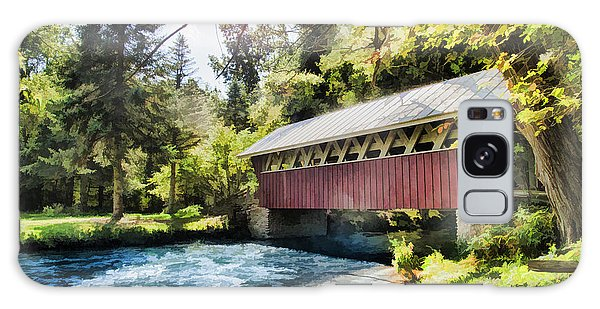 The Covered Bridge At The Red Mill Galaxy Case