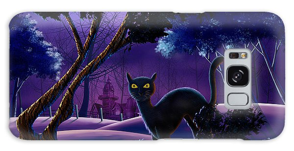 The Creepy Cat Of Ash Hills Galaxy Case