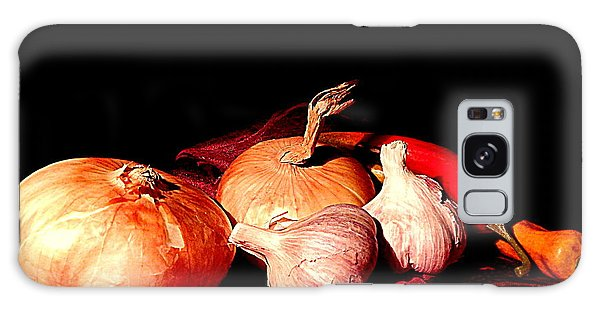 New Orleans Onions, Garlic, Red Chili Pepper Used In Creole Cooking A Still Life Galaxy Case by Michael Hoard