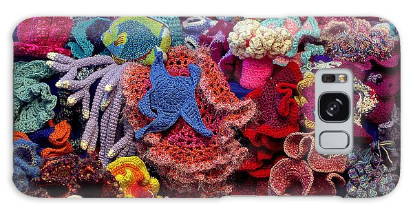 The Crochet Coral Reef Galaxy Case by Farol Tomson