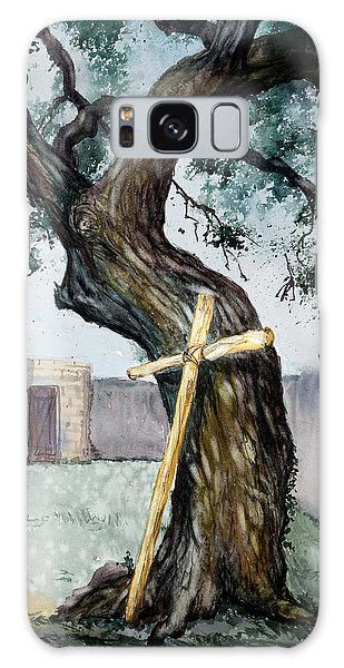 Da216 The Cross And The Tree By Daniel Adams Galaxy Case