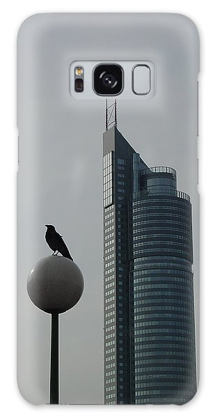 The Crow And The Milleniumtower In Winter Galaxy Case