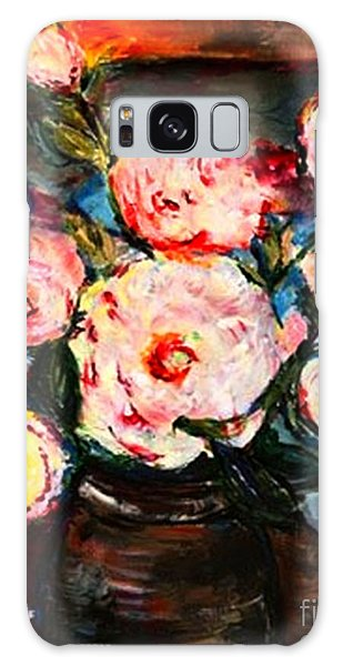 The Dancer's Peonies Galaxy Case