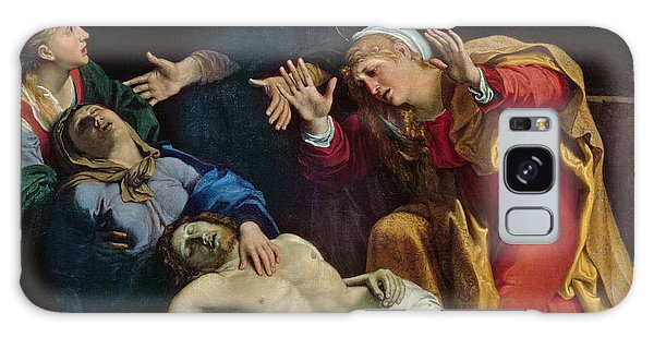 Pieta Galaxy Case - The Dead Christ Mourned  by Annibale Carracci